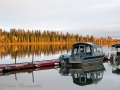 Boats and Fall Colors ~ Lake Louise, Alaska